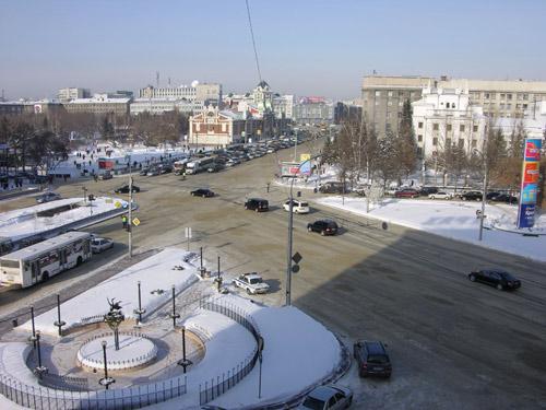 По Новосибирску возят медведя