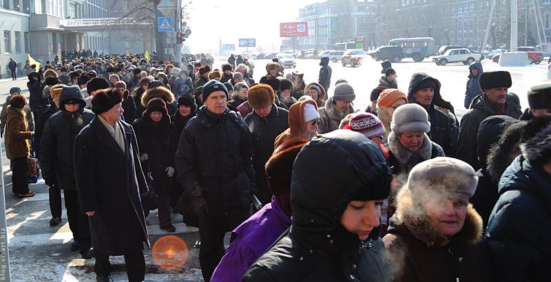 митинг пенсионеров в Новосибирске