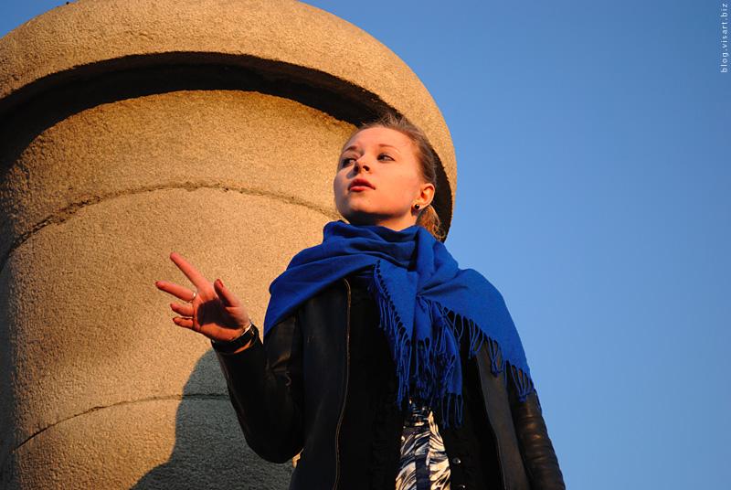 Выступление сибирских ораторов на фонтане