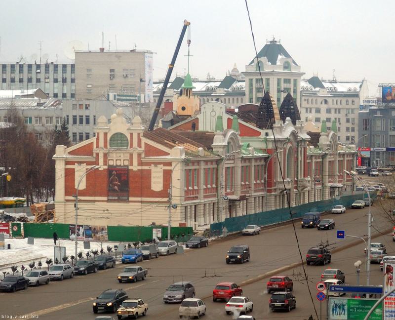 Новосибирскому бундестагу вернули башенку